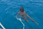 pierwsza kąpiel na Malediwach