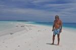 Mariusz na jednej z tysiąca wysp-plaż na Malediwach 12.05.2016