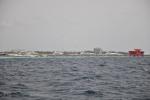 statki stojące przy Hulhumale