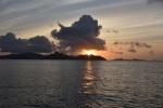 przy zachodzie słońca na Seszelach PK