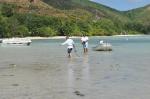 rzucanie kotwicy pontonu na niskiej wodzie ZS