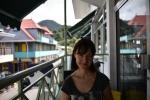 Agnieszka w kawiarni w Victorii PK