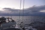 poniedziałkowy poranek - nad linią prądu Agulhas wciąż wiszą ciężkie chmury