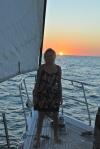 Hanuś o zachodzie słońca w Kanale Mozambickim