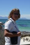 Mariusz z wizytą na pingwinowisku w Boulders Beach